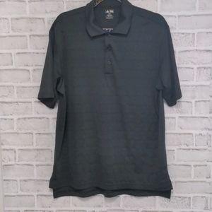 3/$20 Adidas Men's Golf Shirt Black Size Medium